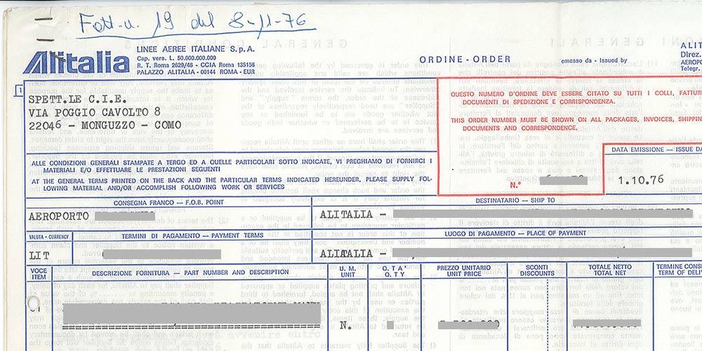 Un ordine di Alitalia per un sistema antideflagrante di manutenzione degli aerei.